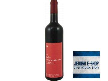 Košer české zemské víno Zweigeltrebe polosladké červené 2015  na kiduš