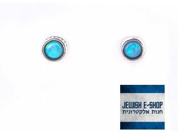 Opálové náušnice - pecky Ag 925/1000