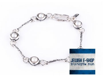 Stříbrný perlový náramek - Made in Israel Ag 925/1000