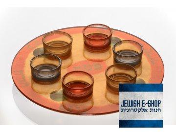Skleněný sederový talíř