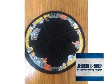 Jarmulka semišová - hradby Jeruzaléma