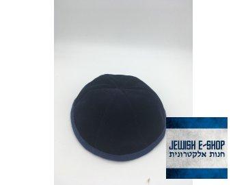 Jarmulka modrá s modrým obšitím za 6-ti kusů