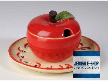 Jablko na med s podnosem  Roš ha šana