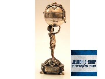 Filigránová stříbrná kořenka na Havdalu s Davidovou hvězdou