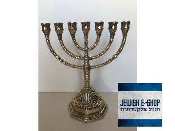 sedmiramenný svícen - židovský svícen