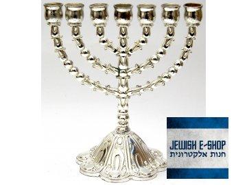 Menší menora made in Israel 17 cm - židovský svícen