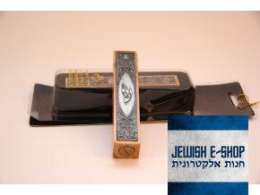 Světle hnědá dřevěná MEZUZA z Izraele, 10cm