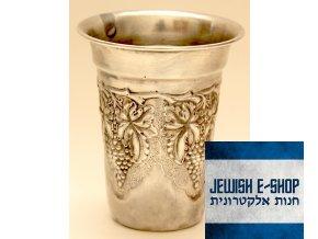 Starý kidušový pohárek, sterling silver 925/1000 z Izraele