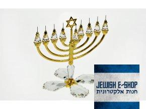 židovský svícen Swarovski