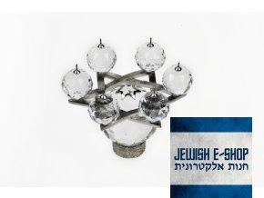 Swarovski - Svícen - Davidova hvězda s crystaly