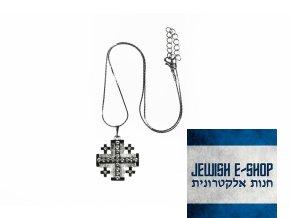 Swarovski - Jeruzalémský kříž se šatony