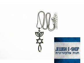 Swarovski - Řetízek - Izraelská pečeť s crystalem