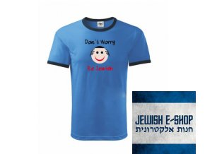 Tričko - Don't Worry Be Jewish - Blue