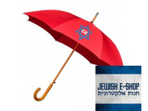 Deštník - Davidova hvězda - RED
