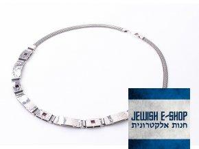 Izraelský  velký náhrdelník s granátem