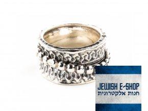 Izraelský stříbrný prsten