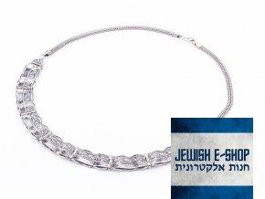Izraelský stříbrný velký náhrdelník