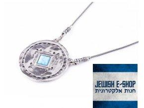 Stříbrný náhrdelník s opálem - made in Israel
