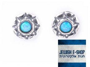 Pecky s modrozeleným opálem made in Israel