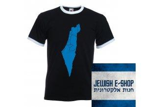 Tričko - Izrael mapa - modrá
