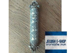 Mezuza - stříbrná barva 12 cm