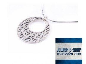 Stříbrný přívěšek na jemném řetízku  made in Israel