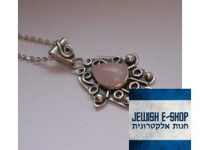 Chamsa s růženínem - stříbro 925/100