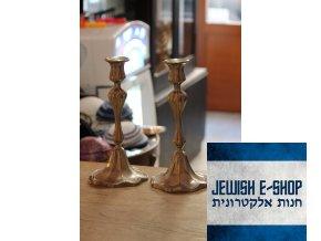 Velké starožitné šábesové svícny - přelom 19. a 20. století