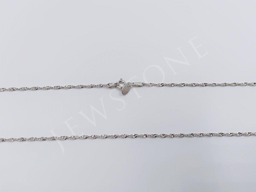 Stříbrný řetízek - singapur 2,1 g, délka 50 cm, Ag 925/1000+Rh