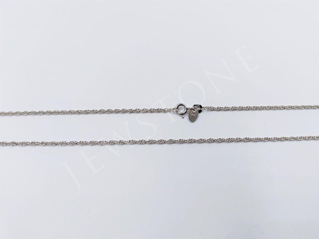 Stříbrný řetízek - jemný valis 2,7 g, délka 42 cm, Ag 925/1000+Rh