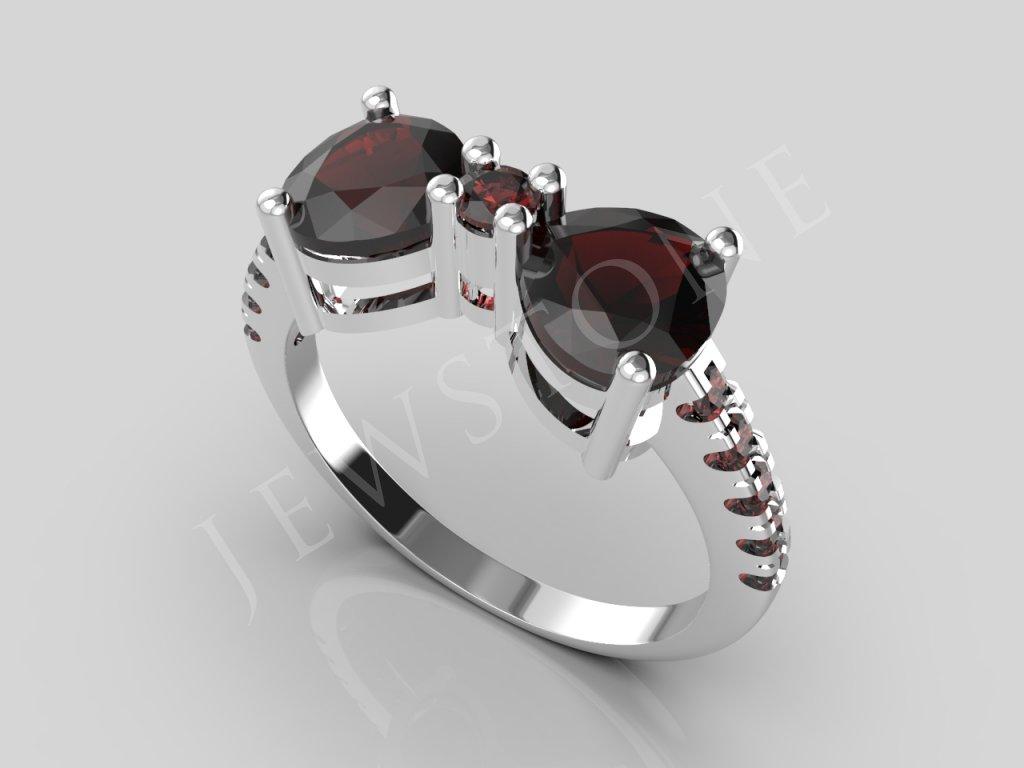 prsten srdce 6x6 2,3 1,5