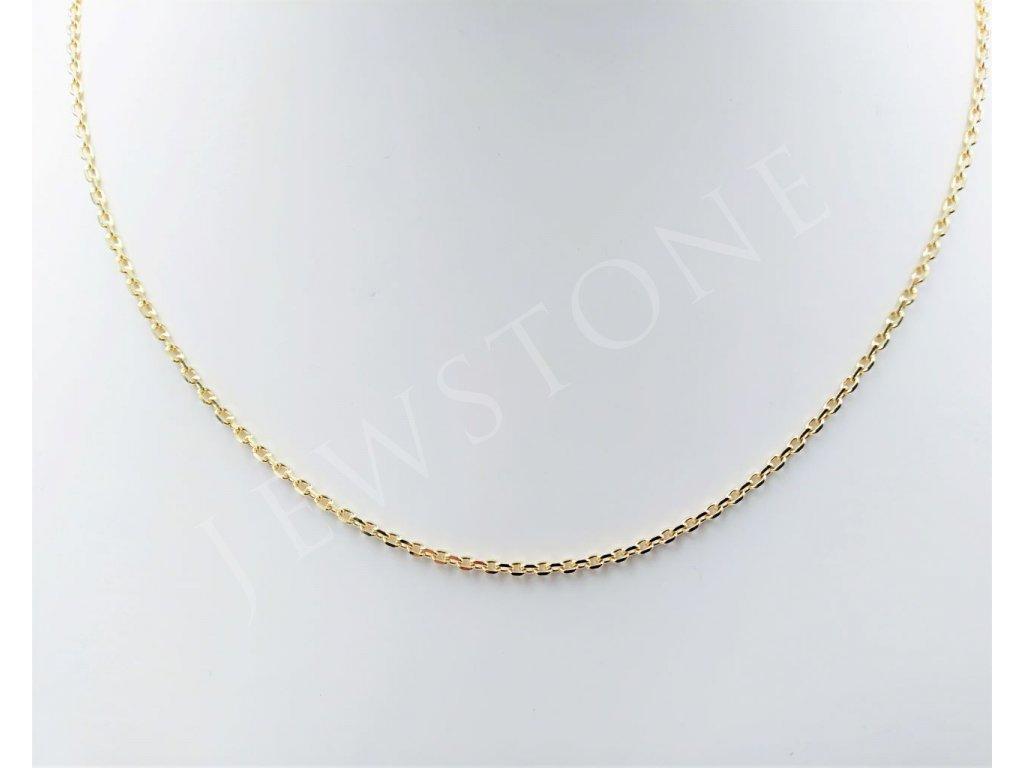 Zlatý řetízek ankr 4,14 g, délka 45 cm, Au 585/1000