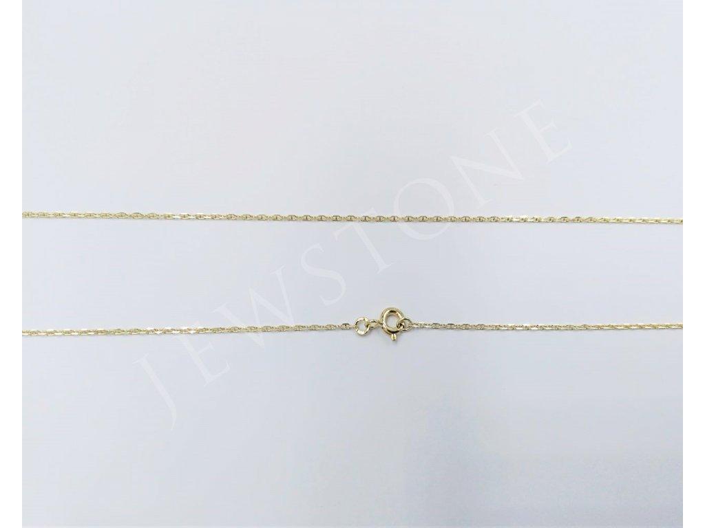 Zlatý řetízek jemný ankr 1,63 g, délka 50 cm, Au 585/1000