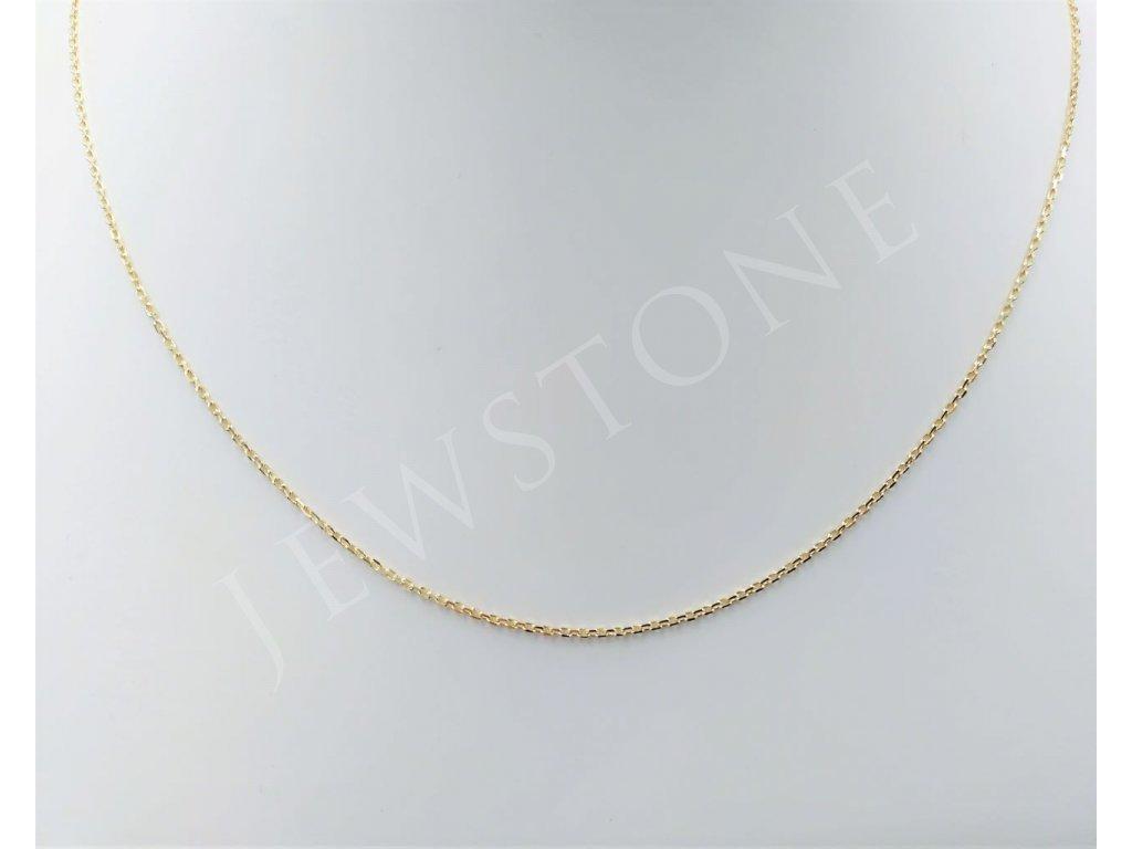Zlatý řetízek jemný ankr 1,46 g, délka 45 cm, Au 585/1000