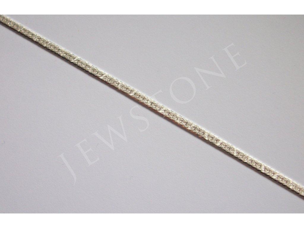Stříbrný řetízek - zmijka 45 cm