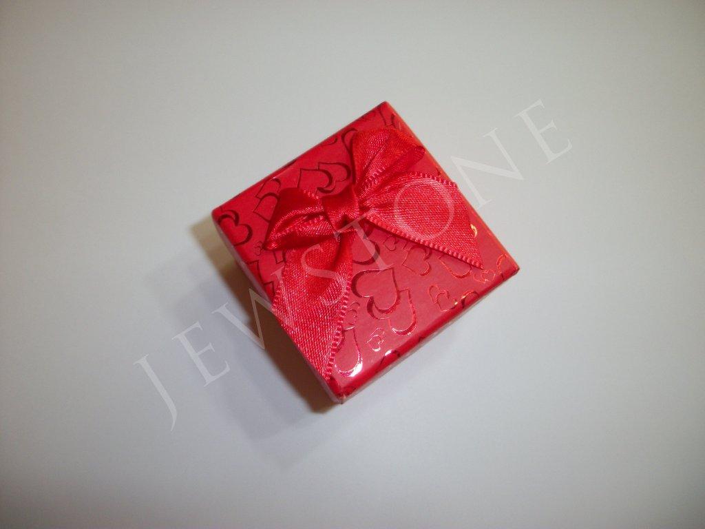 Červená dárková krabička