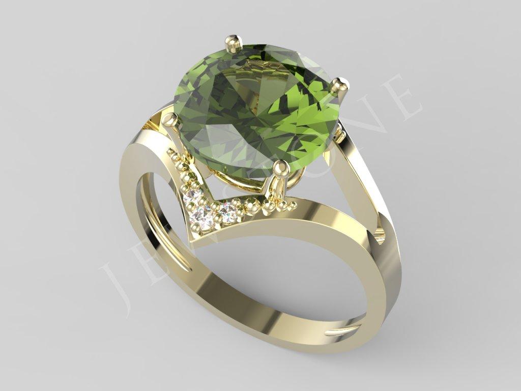 3058 prsten 10,0 4x 1,2, 2x 1,5 4,0gr.412