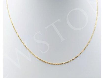 Zlatý řetízek pancr 2,49 g, délka 45 cm, Au 585/1000