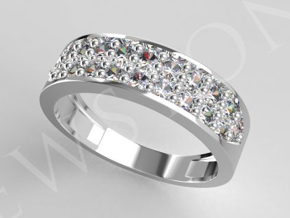 prsten dvourada bil 3067