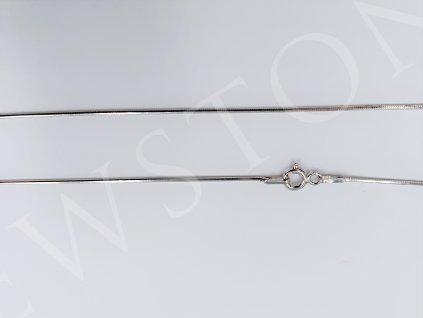 Stříbrný řetízek- snake hranatý 2,3 g, délka 42 cm, Ag 925/1000+Rh