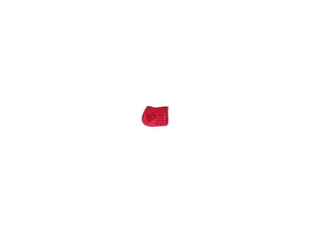 Set víceúčelová dečka + náušníky červená