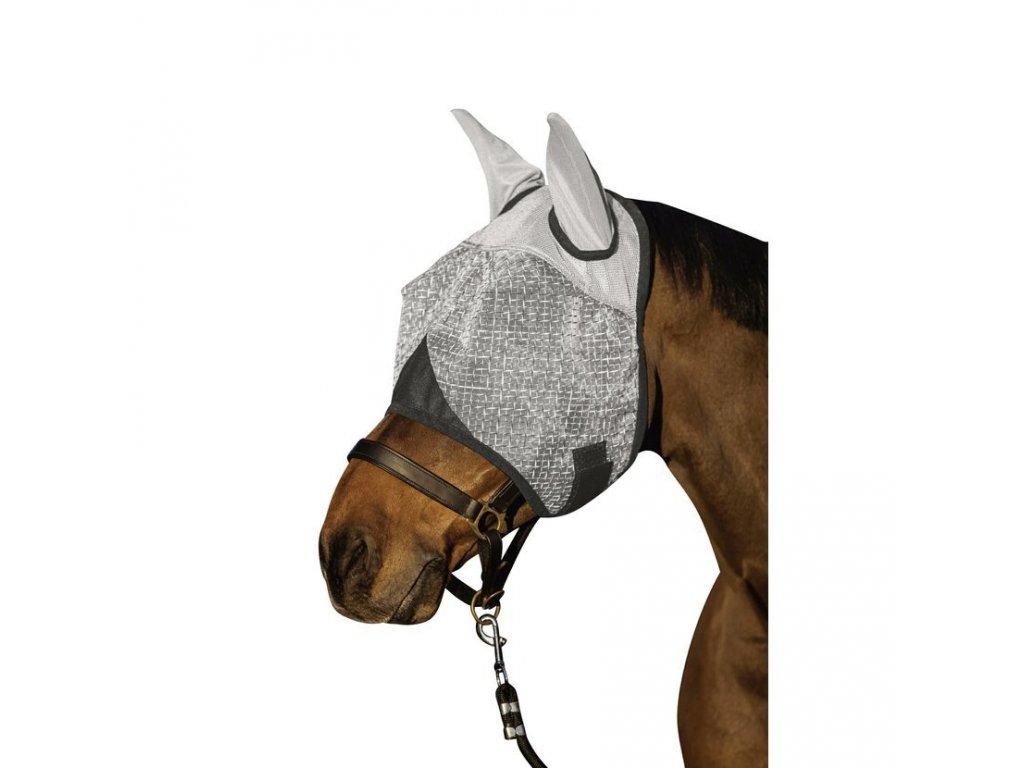 Maska proti hmyzu s ochranou uší šedá
