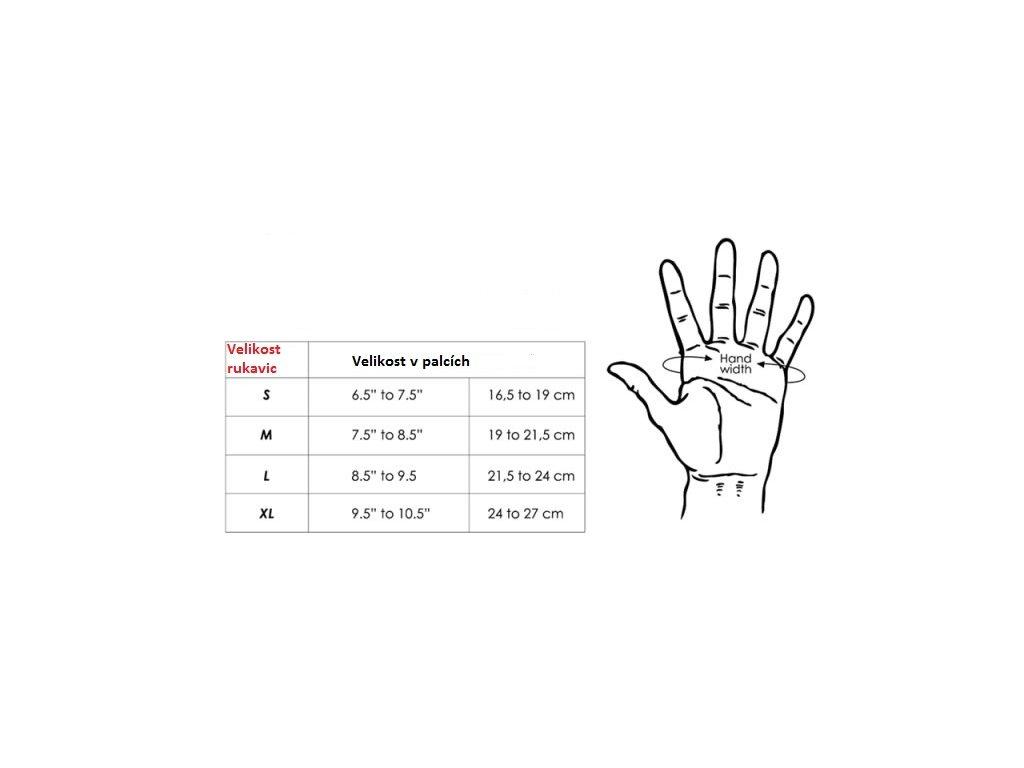 Ennui velikostni tabulka rukavice