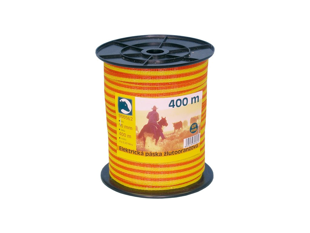 Páska žlutá 10mm 400m, 200m