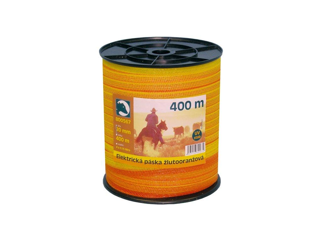 Páska žlutá 20mm 400m, 200m