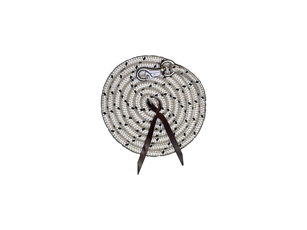 Nylonová lonž Robus kulatá 3,2m kožený švih