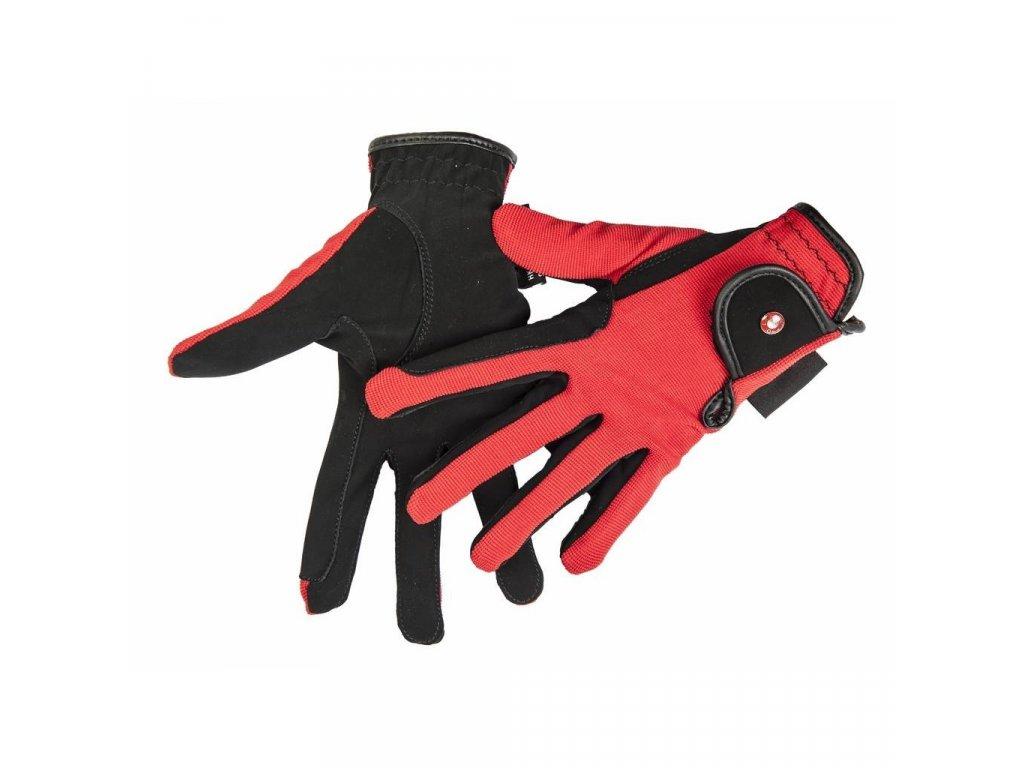 hkm rukavice červené1