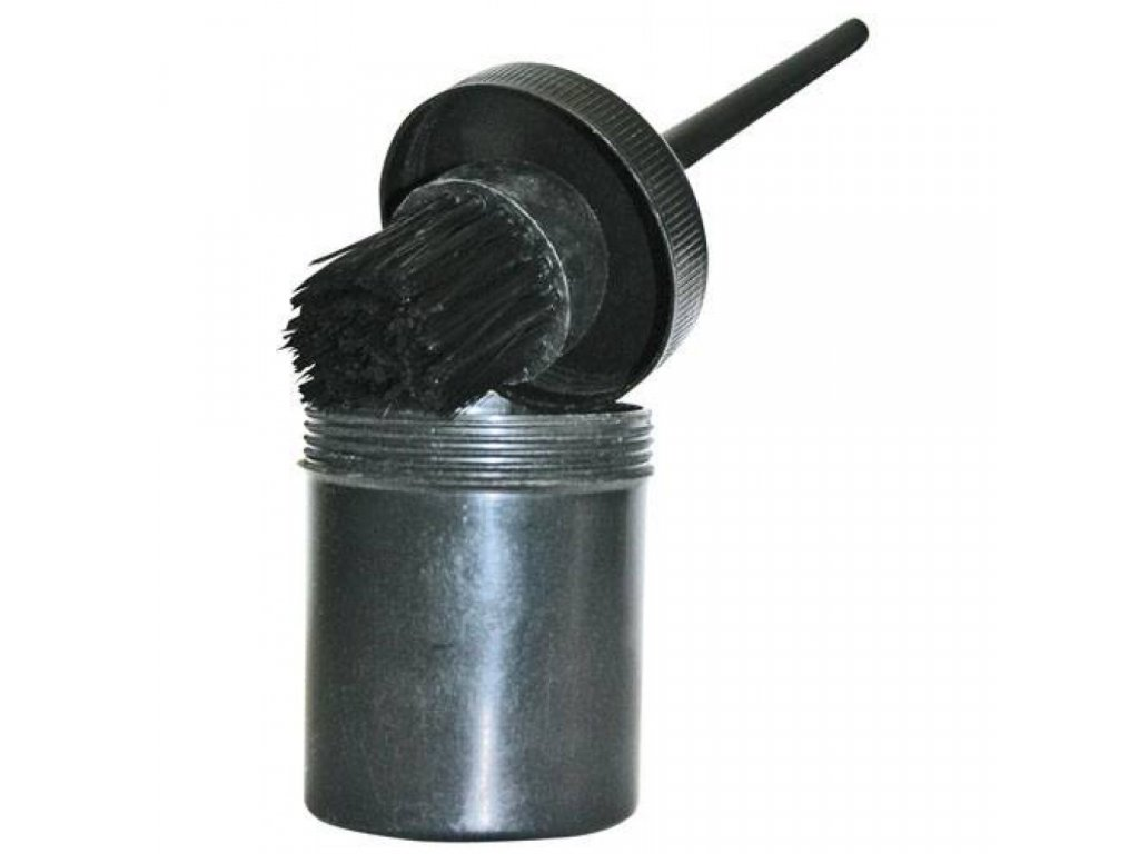 štětec na kopyta s pouzdrem černý hkm