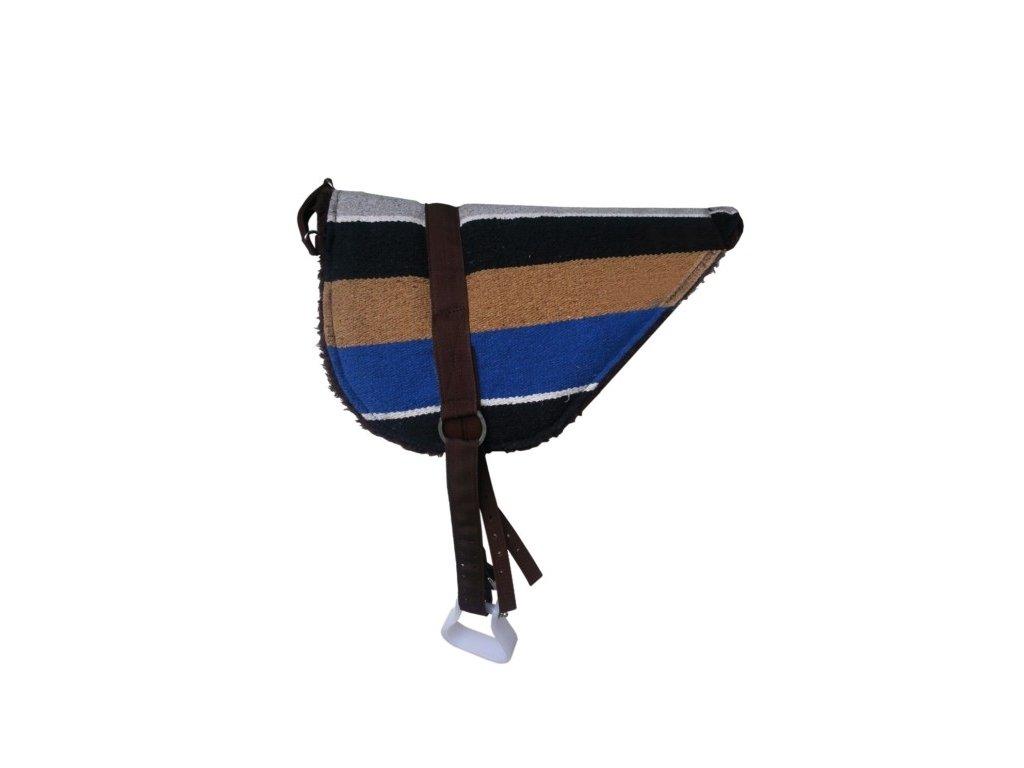 Western deka bareback se třmeny umělý beránek