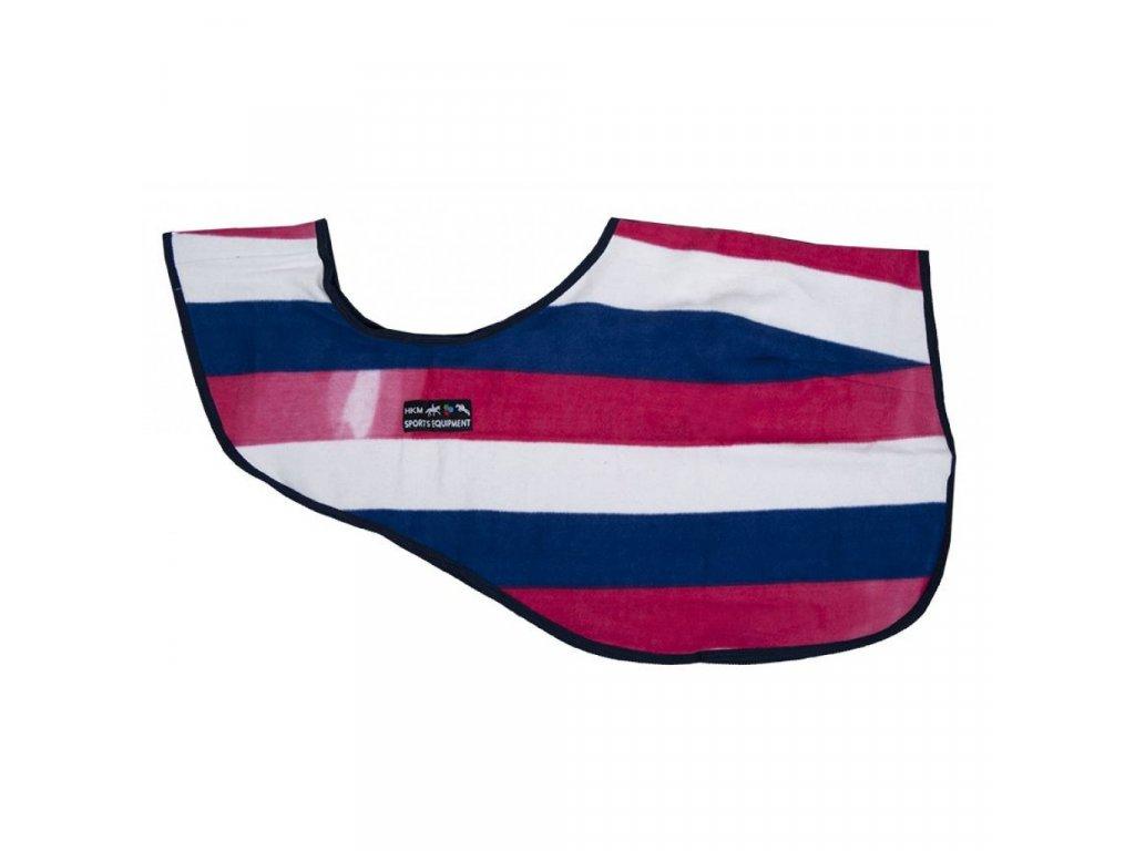 Odpocovací deka Abschwitzdecke Fashion stripes HKM malina